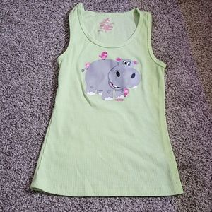 Justice girl tank top green size 8